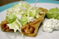 Crispy chicken tacos Veracruz