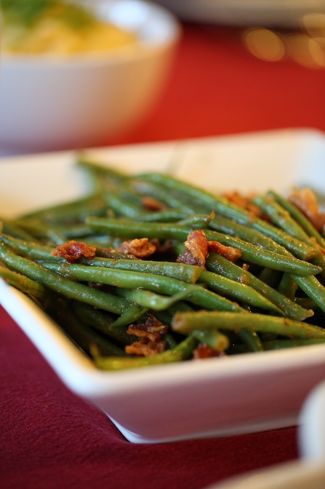 Green beans with chipotle sauce