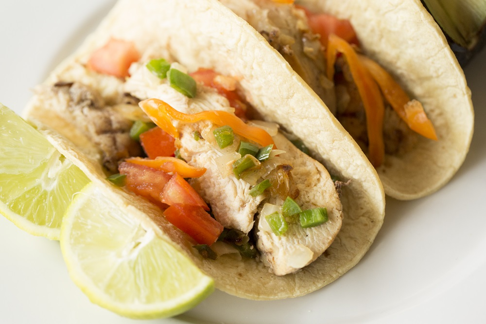 cinnamon and lime chicken fajitas