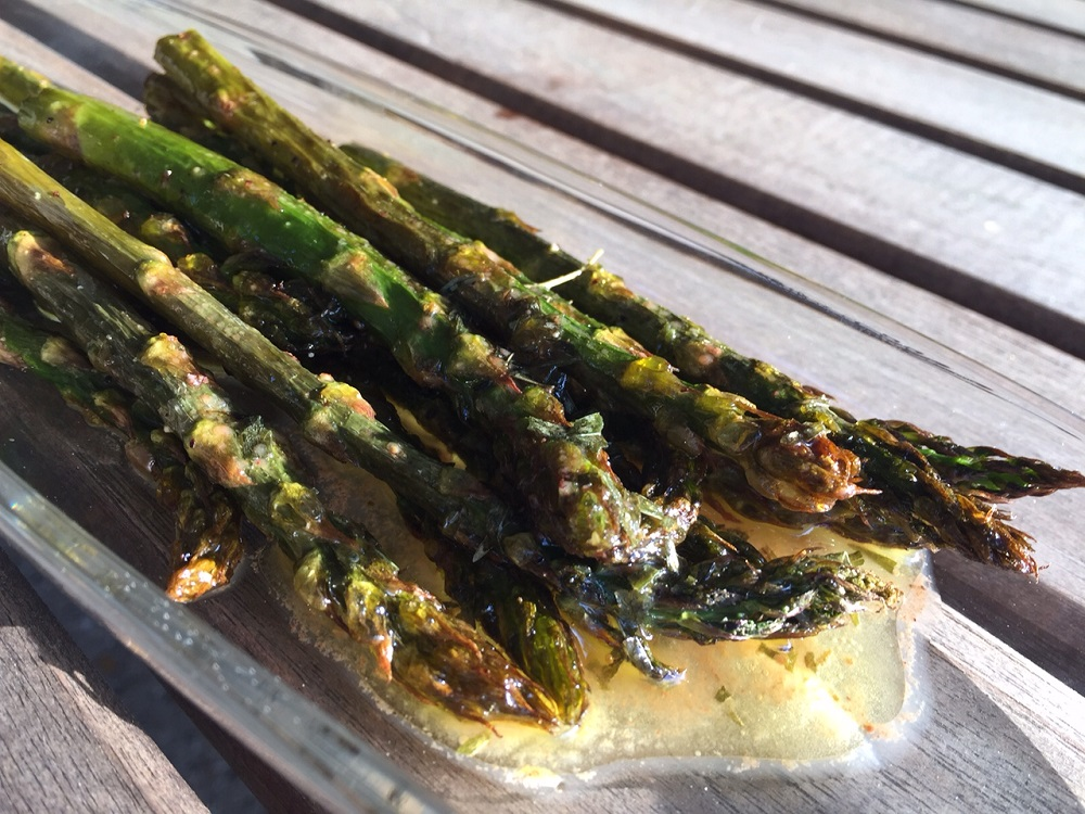 Citrus roasted asparagus