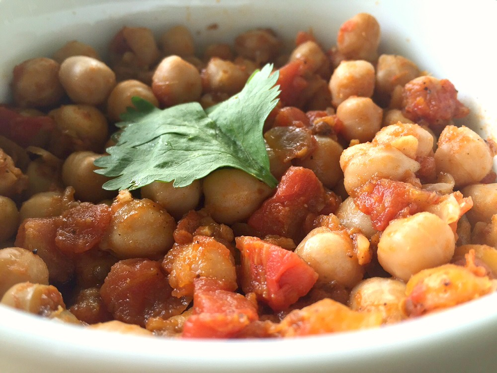 sweet spicy and sour chickpeas