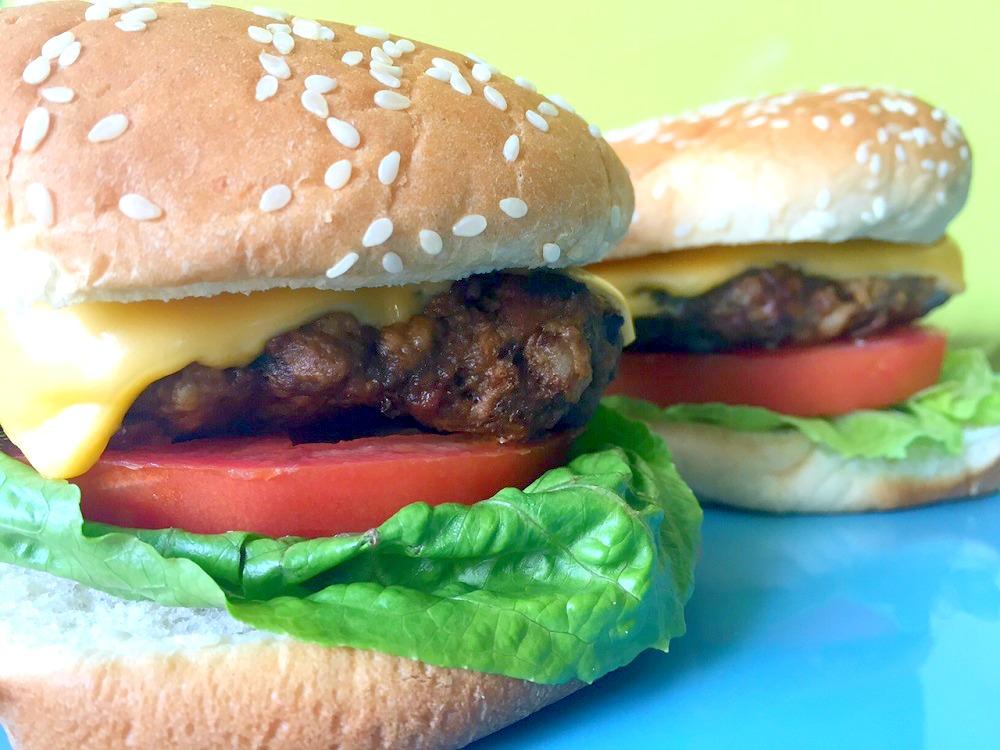 Mexican beef, pork bacon burger