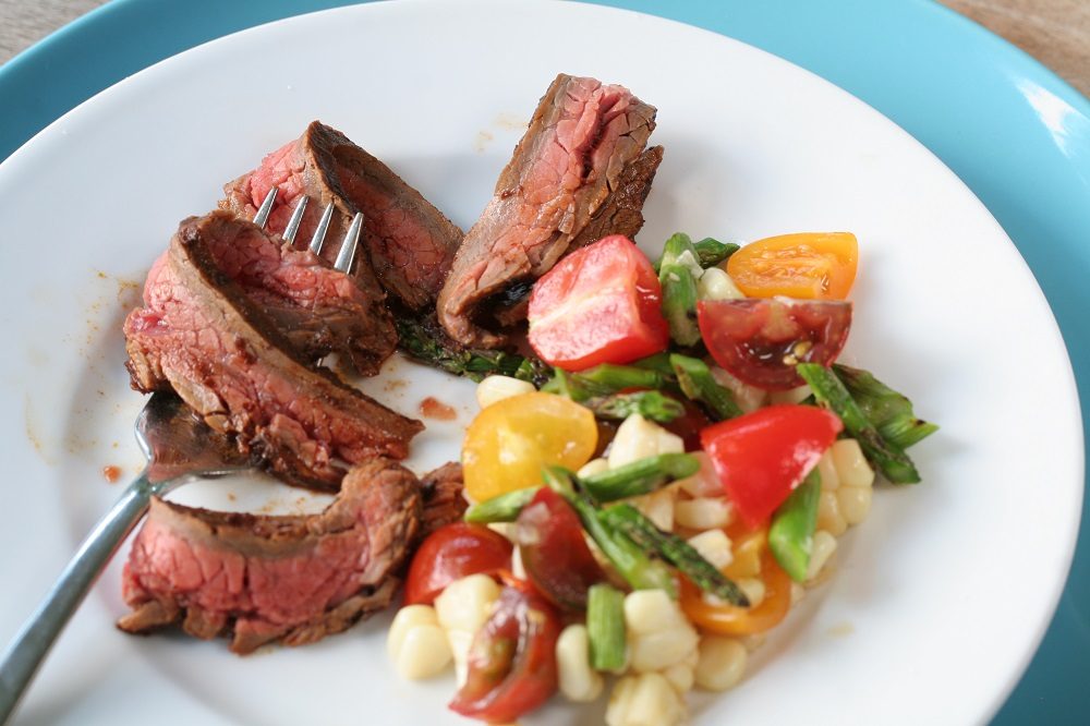 grilled flank steak salad