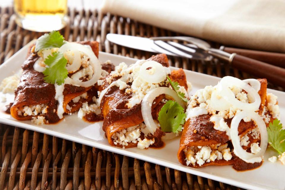 red enchiladas enchiladas rojas molli true mexican flavors