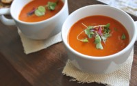 soup-tomato red pepper gazpacho