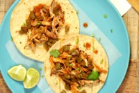 slow cooker Chicken adobo tacos