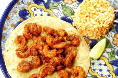 Shrimp a la talla tacos