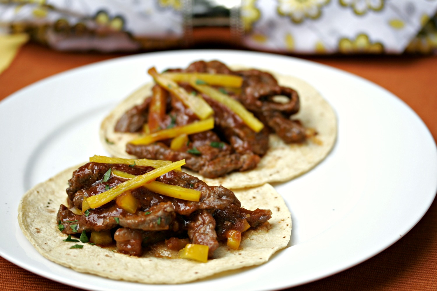 Mexican Beef stir fry tacos