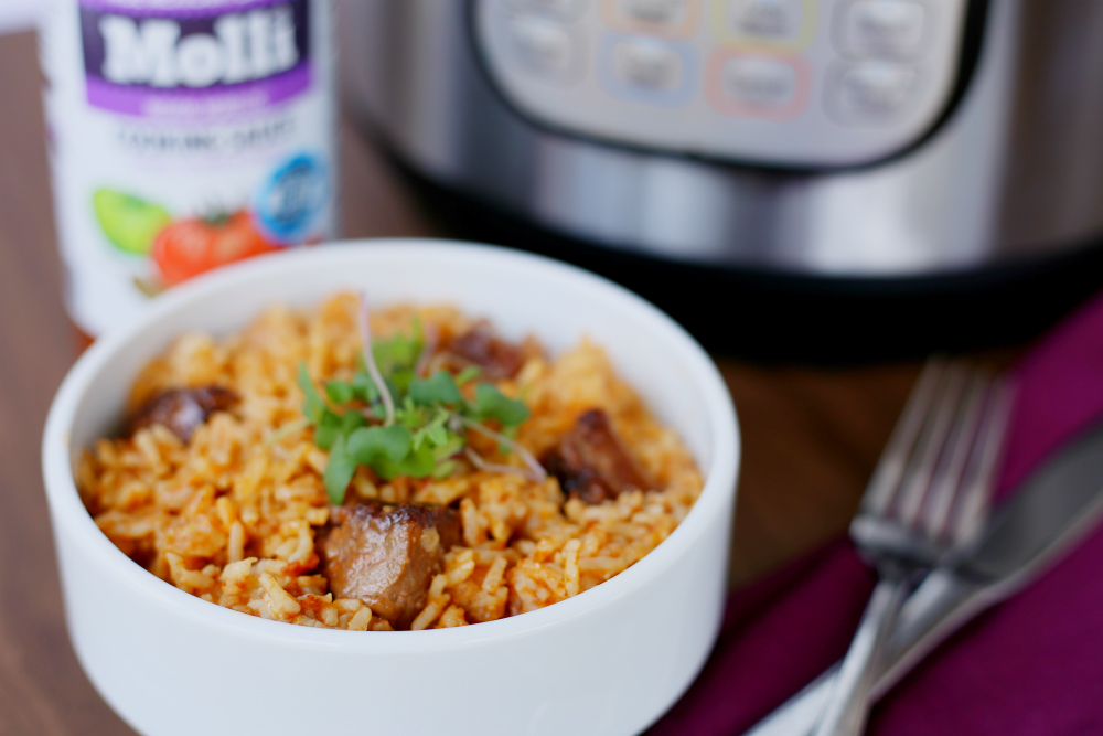 Instant Pot Mexican rice with beef 2