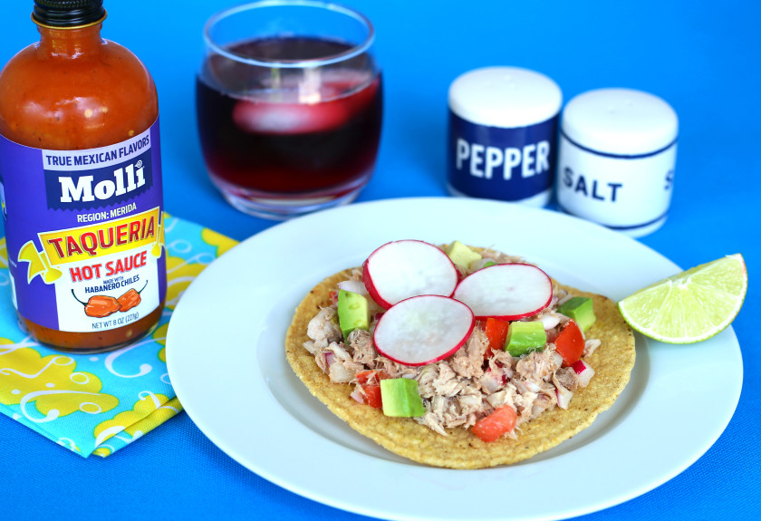Mexican Tuna Salad tostadas