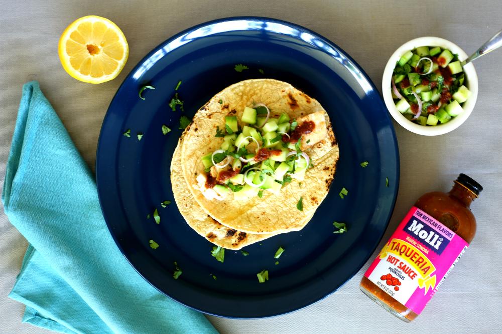 spiced swordfish tacos